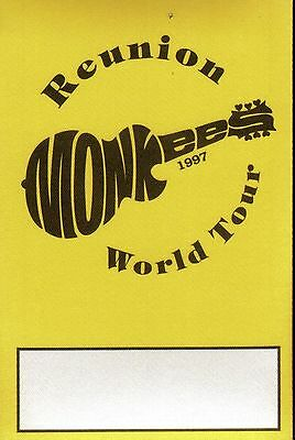 THE MONKEES 30th Anniversary Reunion Tour Backstage Pass 1997
