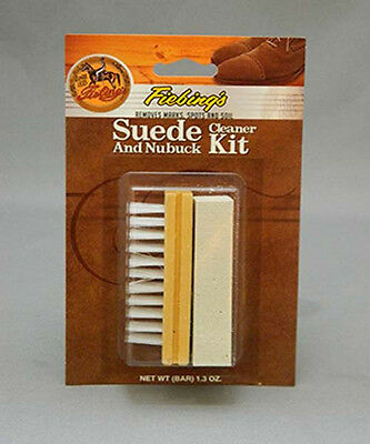 Fiebings Suede & Nubuck Cleaner Kit Protector Block Brush Eraser Bar