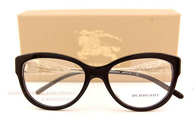 5fe2a859ff79 Brand New BURBERRY Eyeglass Frames BE 2210 3001 Black For Women Size 53