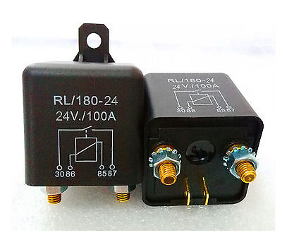 1pc New DC 24V 100A Heavy Duty Split Charge ON/OFF Relay Car Truck Boat