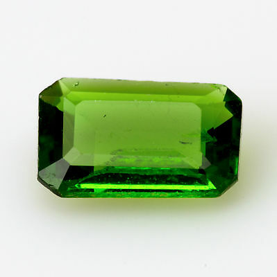 0.65 ct Chrome Diopside Emerald cut 6.9x4.5mm Si1 Natural loose forest green gem