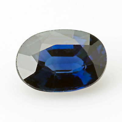 0.65 ct Sapphire Oval cut 6.0x4.2mm VS Top blue Natural loose gemstone