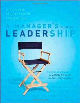 A Manager's Guide to Leadership by Tom Boydell Paperback Book The Cheap Fast
