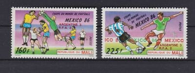 s6067) MALI' 1986 MNH** WC Football'86- CM Calcio 2v.-OVPTD WINNERS