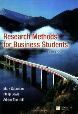 Research Methods for Business Students by Lewis, Philip Paperback Book The Cheap