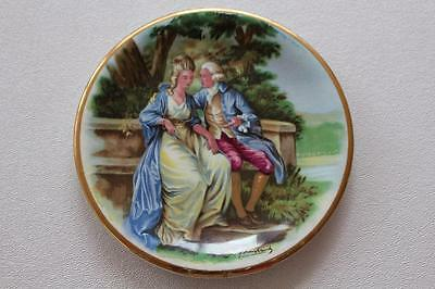 Vintage Harry Hancock Rydalia Ware Courting Couple Plate Signed