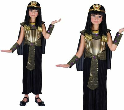 Cleopatra Girls Egyptian Queen Fancy Dress Costume 3/13 Years