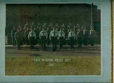 Polizei East Windsor Police Dept.1981:Foto,gerahmt.25 x 31 cm