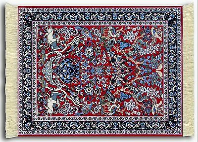 Mouserug Mouse Pad Tree Of Life Deer  Oriental Rug New Miniature Rugs Fiberlok