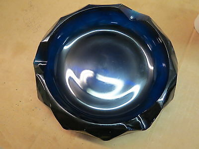 Cobalt Blue Heavy Glass Ashtray T 11
