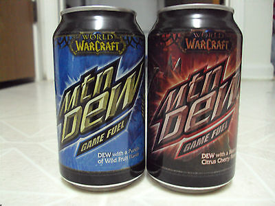 Mountain Dew World of Warcraft Game Fuel red soda can!! WOW Mtn Dew
