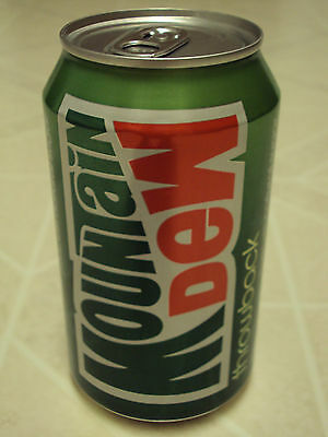 RARE Mountain Dew Throwback soda can!!  1st version!!