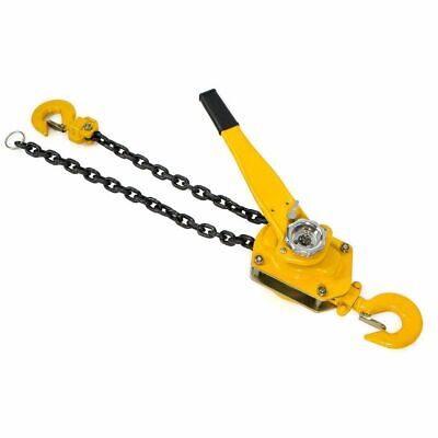 New 3 Ton 5Ft Ratcheting Lever Block Chain Hoist Come Along Puller Pulley