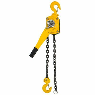 New 1-1/2 Ton 10Ft Ratcheting Lever Block Chain Hoist Come Along Puller Pulley