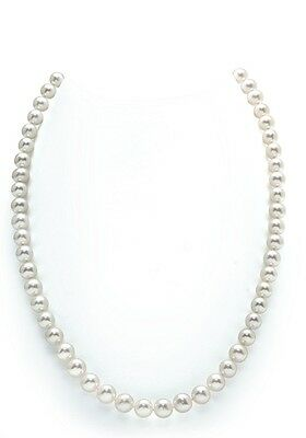 7-8mm Genuine White Freshwater Pearl Necklace