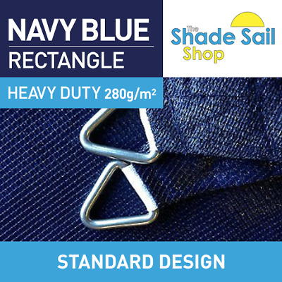Shade Sail 1.2 m x 2.3 m NAVY BLUE 95% UV 280gsm Sails CLEARANCE STOCK $29.00