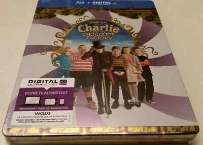 Charlie and the Chocolate Factory STEELBOOK (Blu-ray, France)
