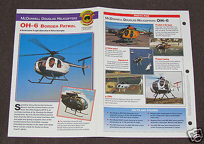 McDONNELL DOUGLAS OH-6 BORDER PATROL Helicopter Photo Spec Sheet Booklet