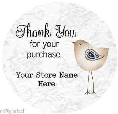 Customized Business Thank You Sticker Labels  - Bird Style #2
