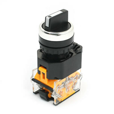 Latching 3 Position DPST NO+NC Panel Mounted Rotary Switch 380V 10A