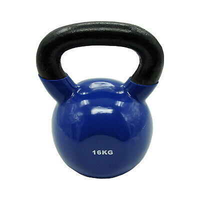 16Kg Iron Vinyl Kettlebell Weight - Gym Use Russian Cross Fit Strength Training