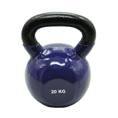 20Kg Iron Vinyl Kettlebell Weight - Gym Use Russian Cross Fit Strength Training