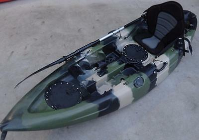 New Sierra Single Fishing Kayak Ocean Kayak Canoe Seat Paddle Camo Kayak