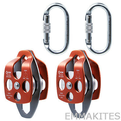 Mobile Pulleys Set for 4:1 or 5:1 Block and Tackle Pulley System Process Capture