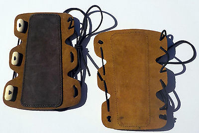 Suede Leather 3 Button Arm Guard