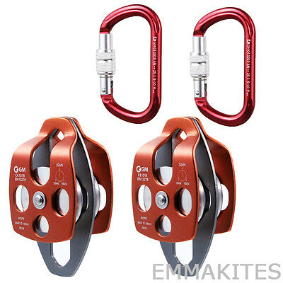 Mobile Pulley with Carabiner Set for Process Capture Block and Tackle 4:1 or 5:1