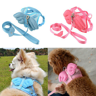 Adjustable Pet Cat Dog Rabbit Ferret Angle Wing Harness Leash Strap S