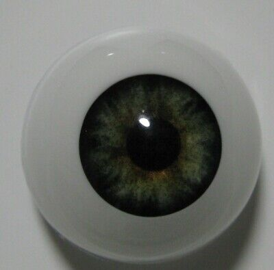 Reborn doll eyes 22mm Half Round  EVERGREEN