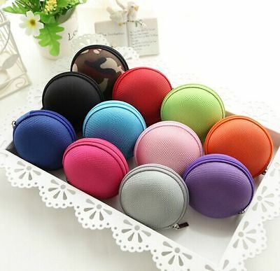 Portable Earphone Headphone Earbud Pouch Hard Carrying Case Storage Bag Holder