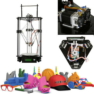 Upgraded Geeetech Kossel Delta Rostock mini G2s dual extruder 3D Printer DIY