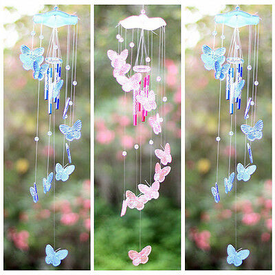 Butterfly Mobile Wind Chime Bell Garden Ornament Hanging Living Door Decor Gift