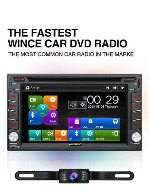"Free Camera 7"" Double DIN Car DVD Stereo GPS Head Unit 1080P Radio Touch Screen"