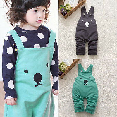 Aged 0-3 T Infants Toddler Baby Aimimal Bear Harem Pants Bib Overalls Trousers