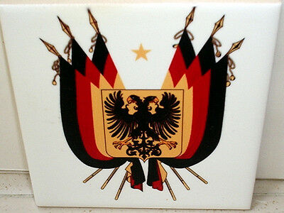 Imperial Coat of arms of Germany 1848 ~German Confederation~ CERAMIC wall TILE
