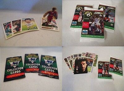 Sports Pack Lot Score & Merlins Soccer Factory Sealed Trading Card 60 Pack Lot