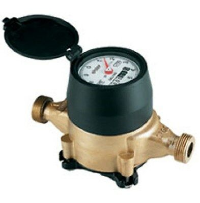 Water Meter - Elster Amco 3/4 x 3/4 Low Lead Bronze Direct Read CF Poly Housing