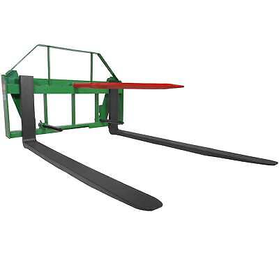 "Titan 60"" Pallet Fork Hay Bale Spear Attachment Fits John Deere Global Loaders."