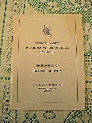 National Society D.A.R. Highlights of Program Activity Booklet 1947-1950