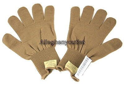 US Military Army WOOL INSERTS Liners For D3A Gloves Coyote Brown USGI XL NEW