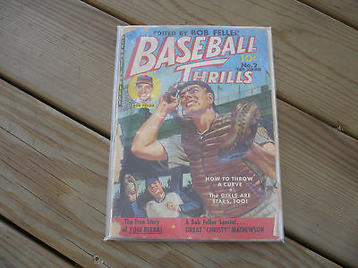 1951 Baseball Thrills Edited By Bob Feller #2 Late Summer 10 Cent Comic Sports