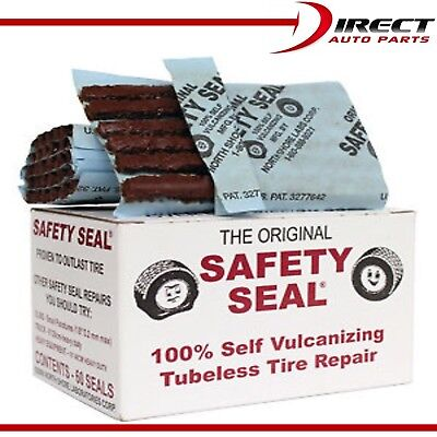 60 Plugs Safety Seal Tire Plugs 60 per box, Tire Repair Brown plugs 4 Inch Long