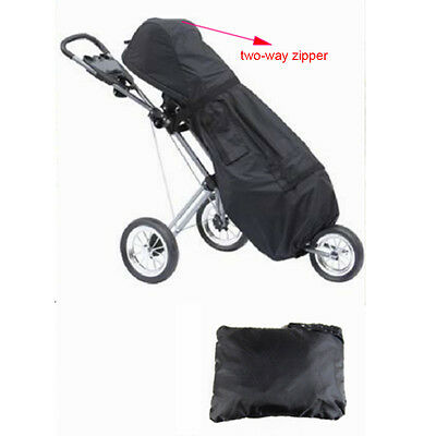 Black Golf Trolley/cart/buggy Rain Cover storm cover with two way zipper