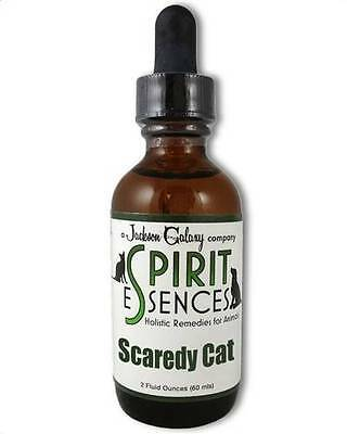 Jackson Galaxy Spirit Essence-SCAREDY CAT for CATS! 2oz Bottle FREE SPRAY TOP