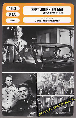 SEVEN DAYS IN MAY 1963 Kirk Douglas MOVIE PHOTO CARD