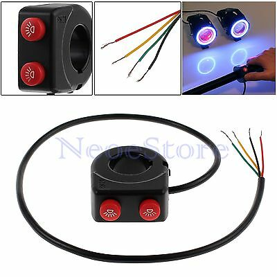 """2in1 Dirt Pit Bike Motorcycle 7/8"""" Handlebar Stop Kill Button Switch On Off UK"""
