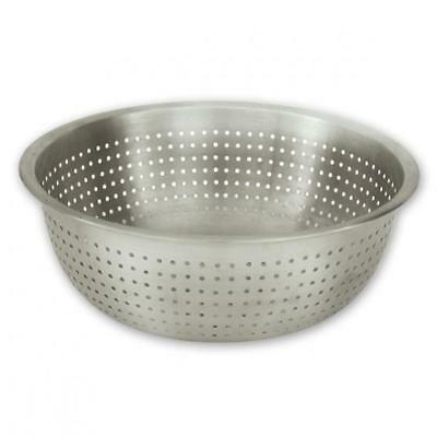 Colander 28cm Chinese Style, Stainless Steel Strainer Perforated Bowl NEW